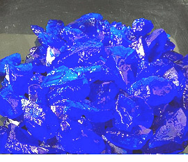 Copper Sulfate Pentahydrate larger crystals to 12.0 mm